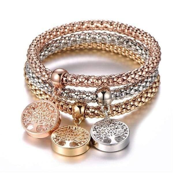 Catrina Three Piece Tree of Life Bracelets Jewelry Tree Of Life at Fashions Queen