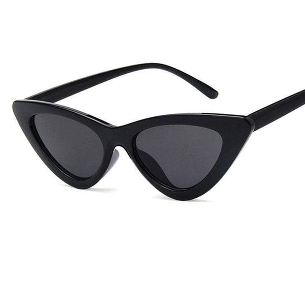 Charlotte Cat-Eye Sunglasses Black Gray at Fashions Queen
