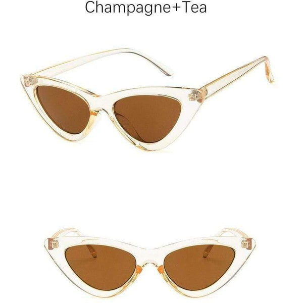 Charlotte Cat-Eye Sunglasses Champagne Tea at Fashions Queen