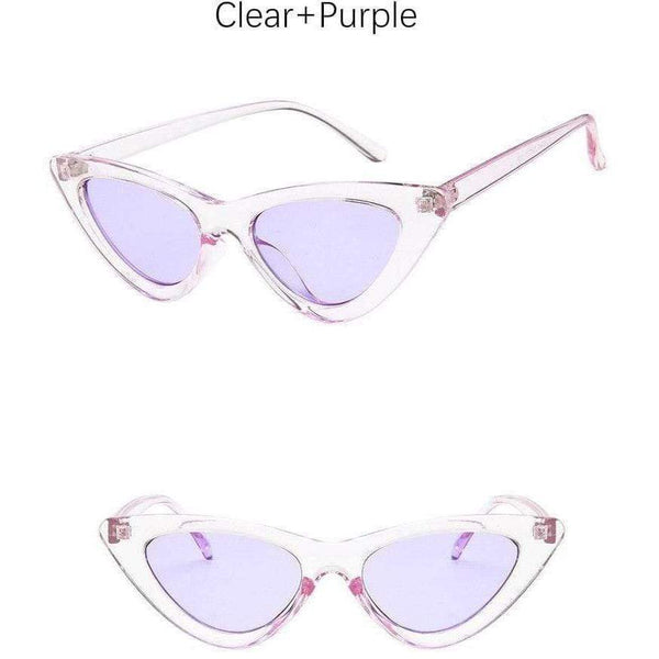 Charlotte Cat-Eye Sunglasses Clear Silver at Fashions Queen