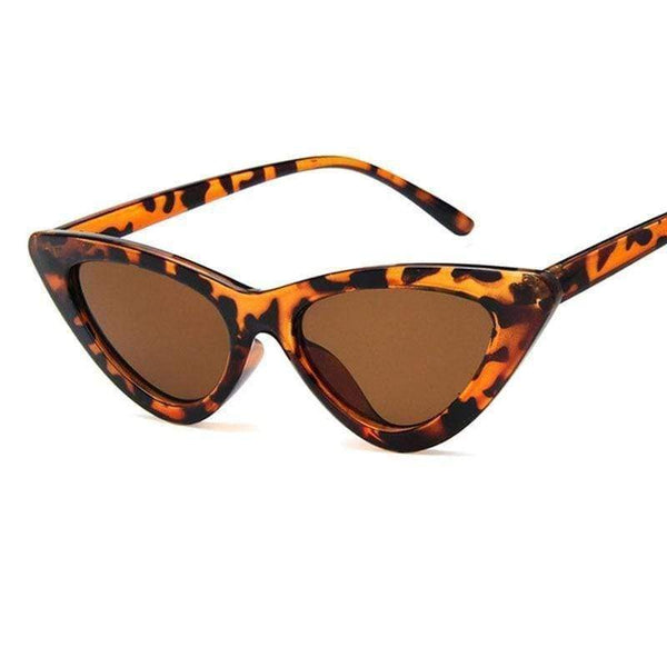 Charlotte Cat-Eye Sunglasses Leopard Tea at Fashions Queen