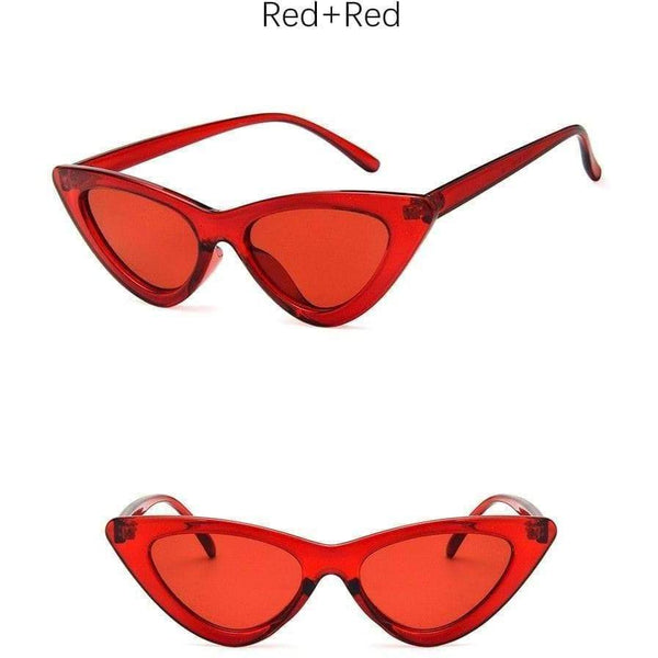 Charlotte Cat-Eye Sunglasses Red Red at Fashions Queen