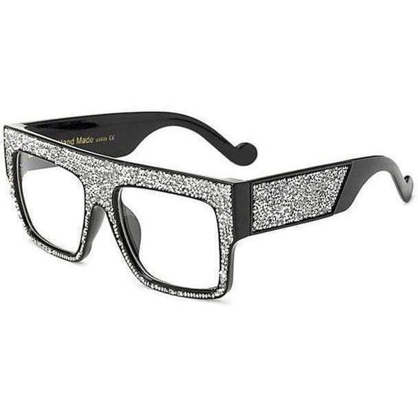 Chloe Sunglasses Silver Clear at Fashions Queen