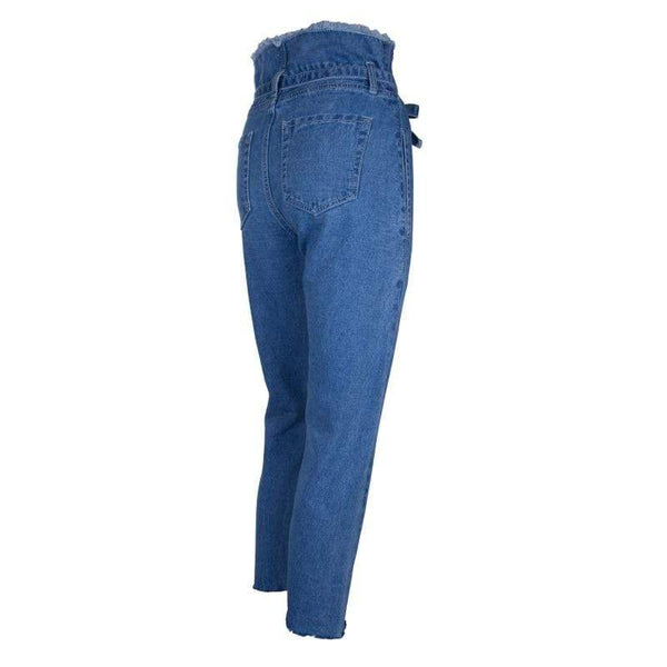 Casual Denim Drawstring Zipper Pencil Jeans at Fashions Queen