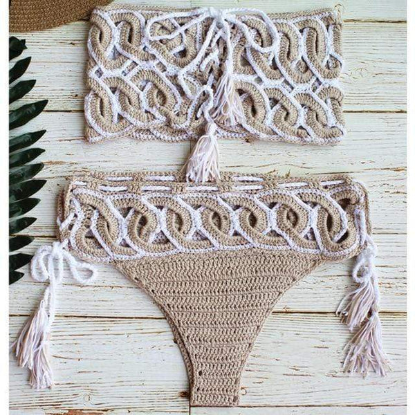 Emery Tassel Sunsuit Two Piece Bikini at Fashions Queen