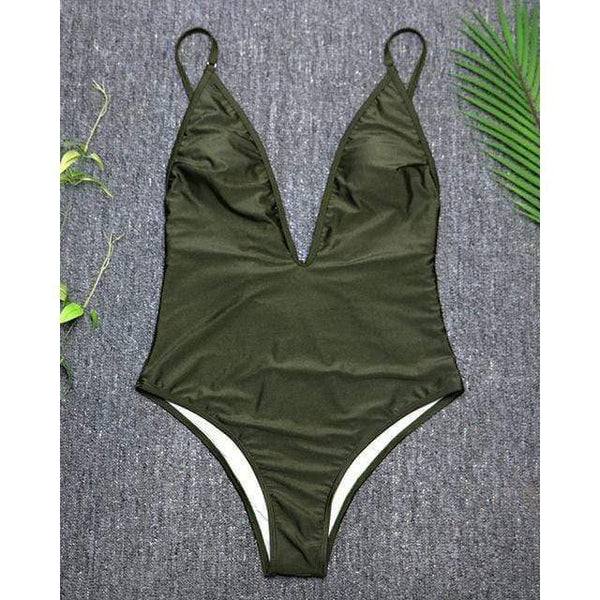Emma Swimsuit Army Green / S at Fashions Queen