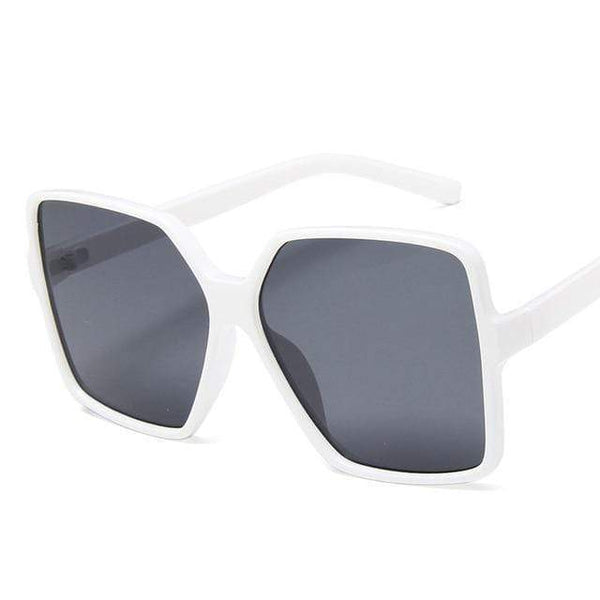 Garciela Oversized Square Sunglasses Black And White at Fashions Queen