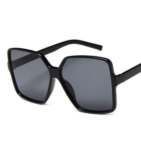 Garciela Oversized Square Sunglasses Black at Fashions Queen