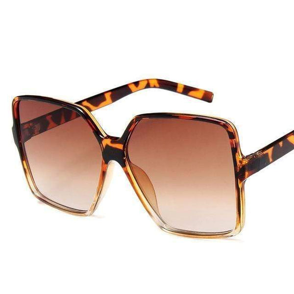 Garciela Oversized Square Sunglasses Brown at Fashions Queen