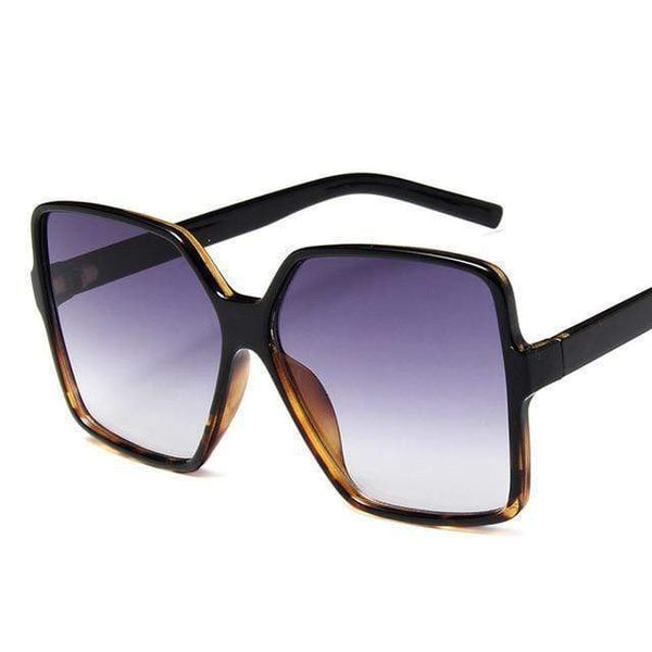 Garciela Oversized Square Sunglasses Plain Voilet at Fashions Queen