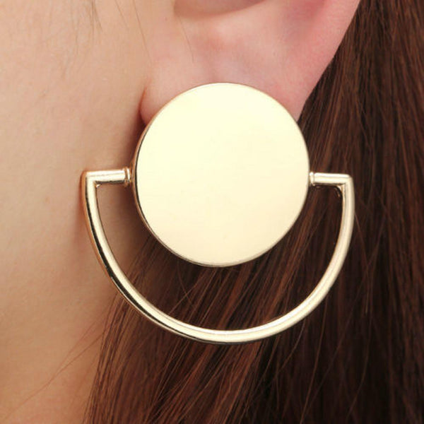 Katy Geometric Round Dangle Drop Earrings at Fashions Queen