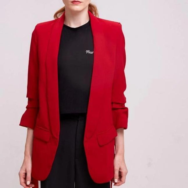 Lucy Casual Sleeve Office Ladies Blazer at Fashions Queen
