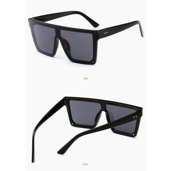 Lupita Wide Mirror Sunglasses at Fashions Queen