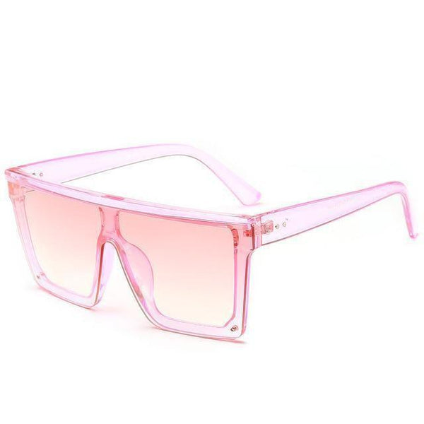 Lupita Wide Mirror Sunglasses Pink at Fashions Queen