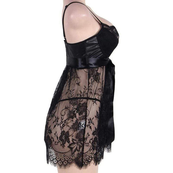 Plus Size Sexy Erotic Sleepwear Costume Babydoll Lingerie at Fashions Queen