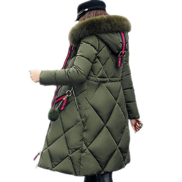 Sonia Thick Parka Down Jacket Long Winter Coat at Fashions Queen