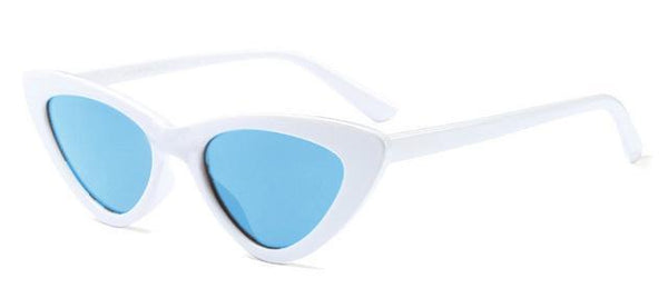 Stella Good Girl Sunglasses White Blue Tint at Fashions Queen