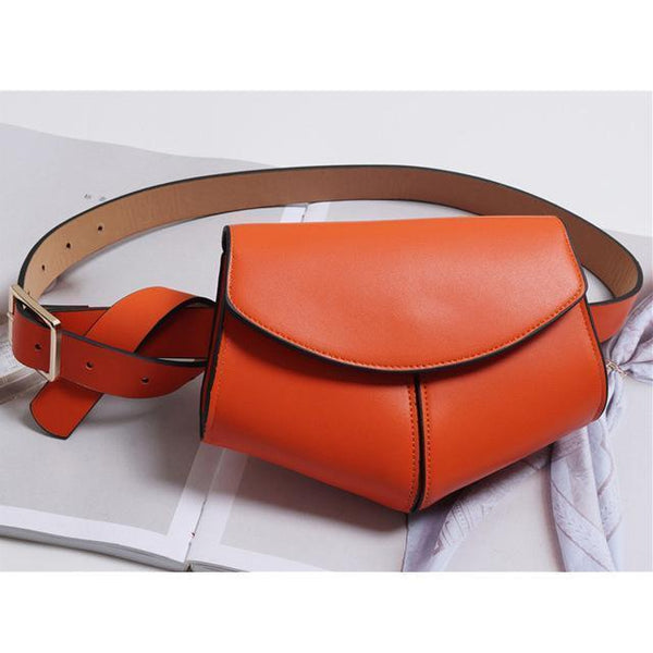 Tiffany Waist Belt fanny Packss Orange at Fashions Queen