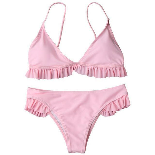 Tino Bikini Set Pink / L at Fashions Queen