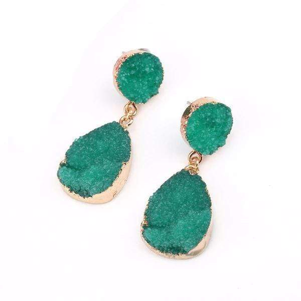 Zoe Green Red Resin Earrings Green at Fashions Queen