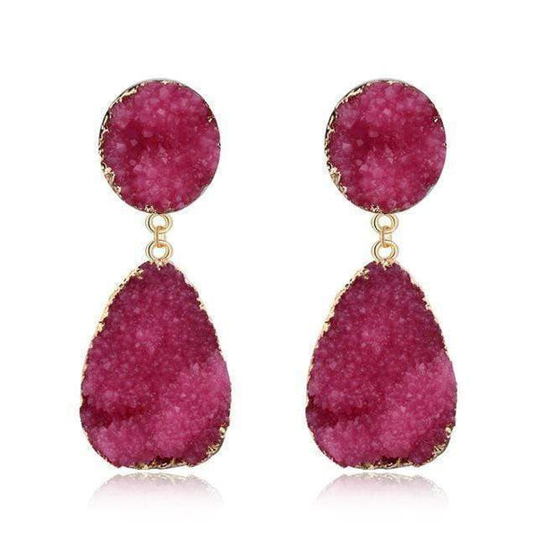 Zoe Green Red Resin Earrings Pink at Fashions Queen