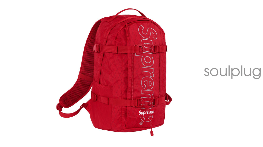 SUPREME BACKPACK (FW18) RED