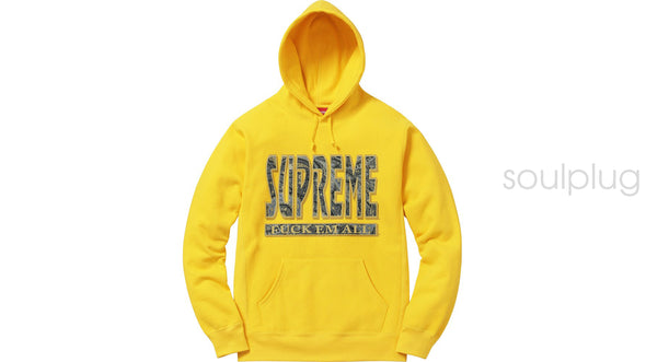 Supreme Paisley Fuck Em All Hoodie Yellow