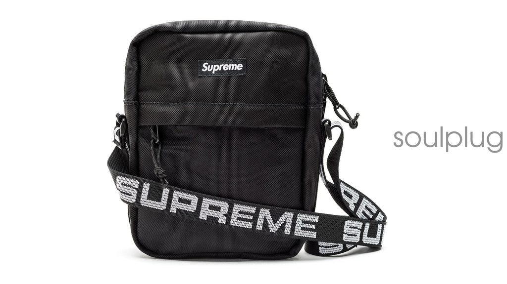Supreme Shoulder Bag (SS18) Black – Soul Plug d495e8db143fa