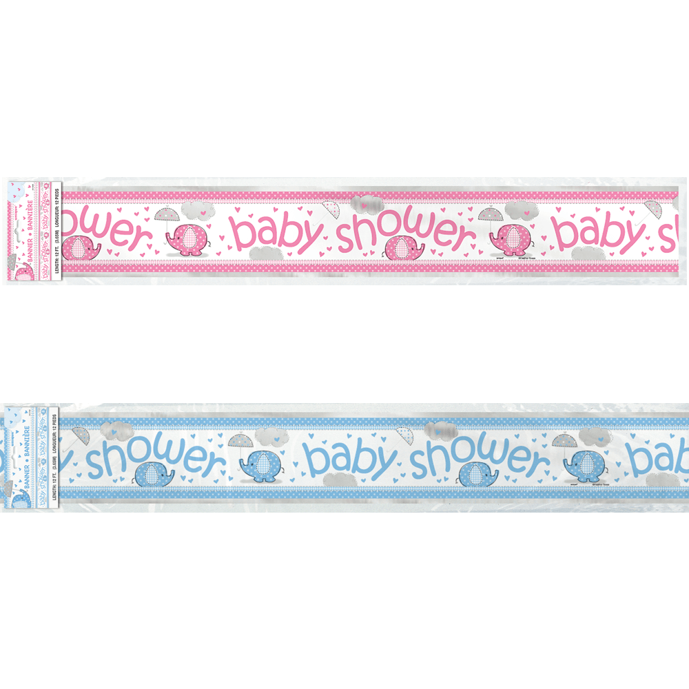banner baby shower elefant
