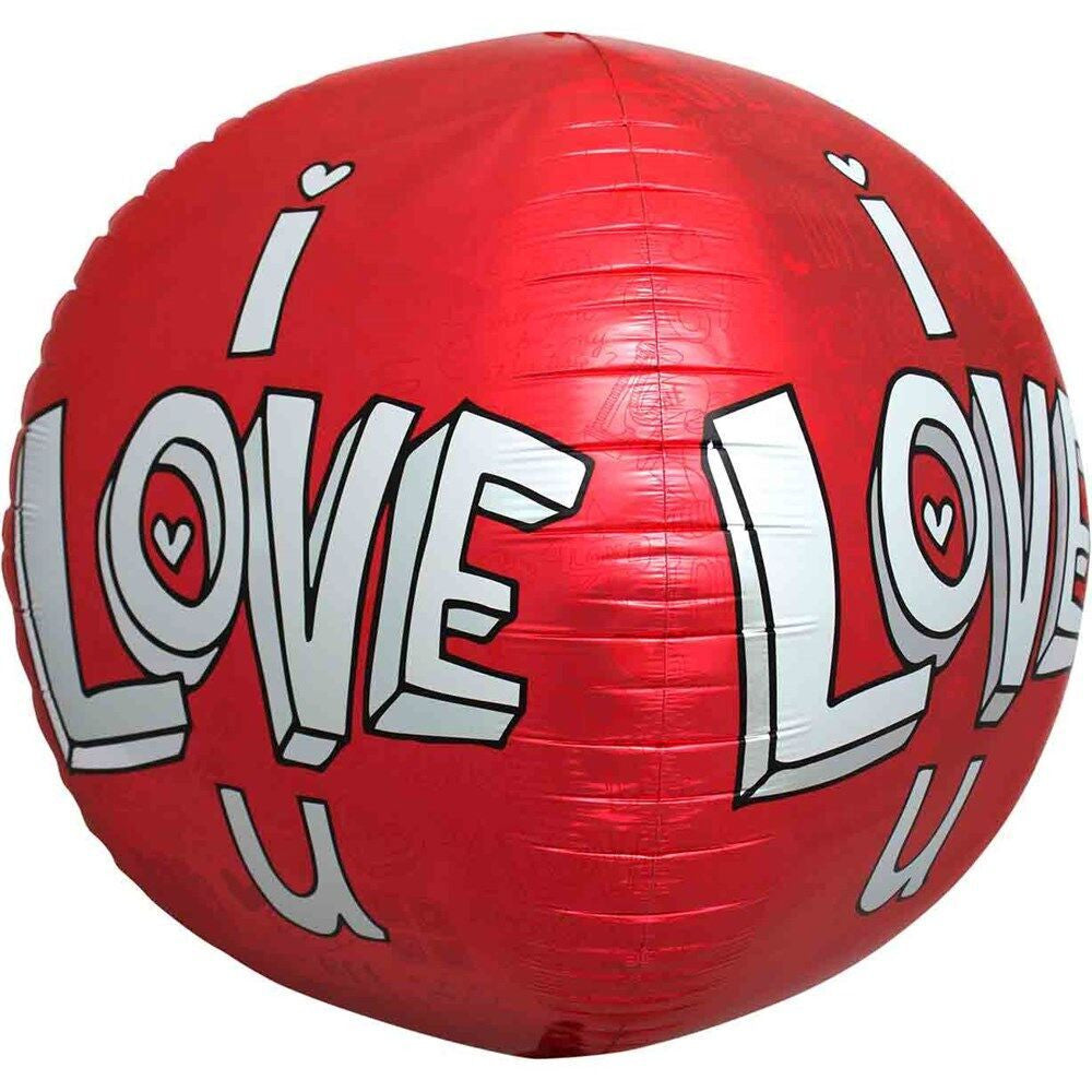 Folie ballon - i love you - 43 cm fra festorama fra festorama
