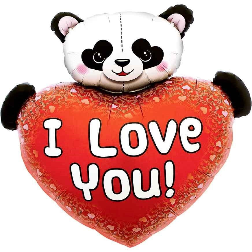 Folie ballon - I love you - panda