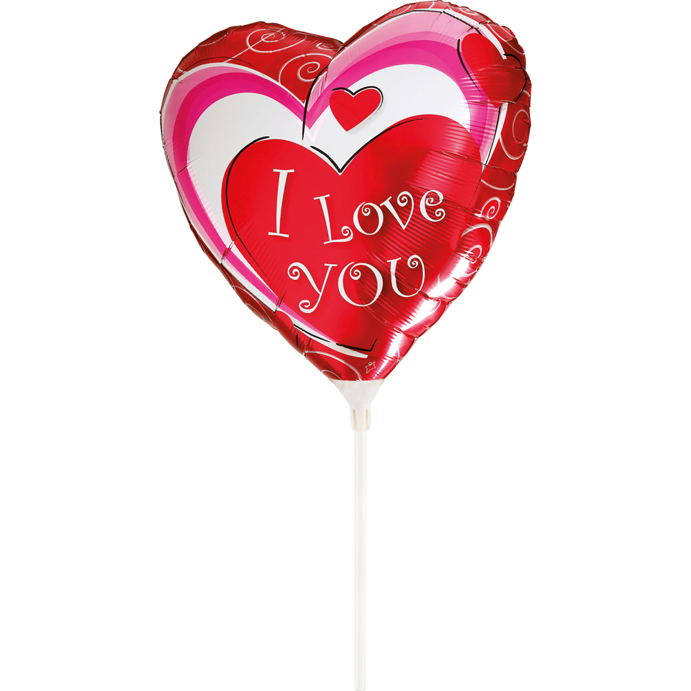 "Folie ballon - Hjerteformede - ""I LOVE YOU"" - 25 cm"