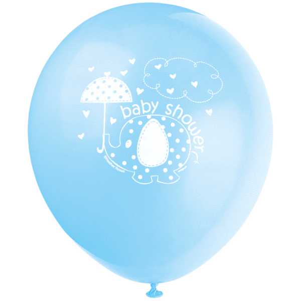 Lyseblå ballon til baby shower