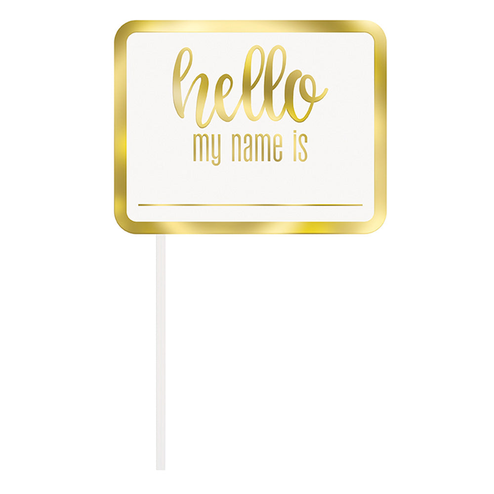 Baby shower photobooth del - -hello my name is