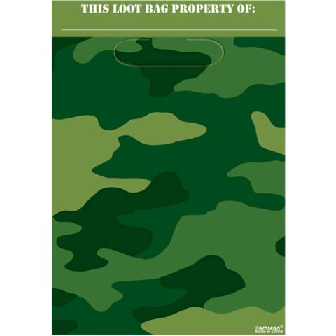 Partybags - Camouflage - 30 x 16,5 cm - 8 styk