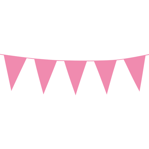 Pink flagbanner 10 meter