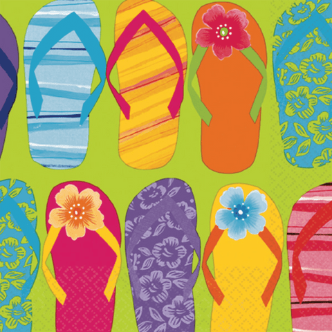 Hawaii servietter med flip flops