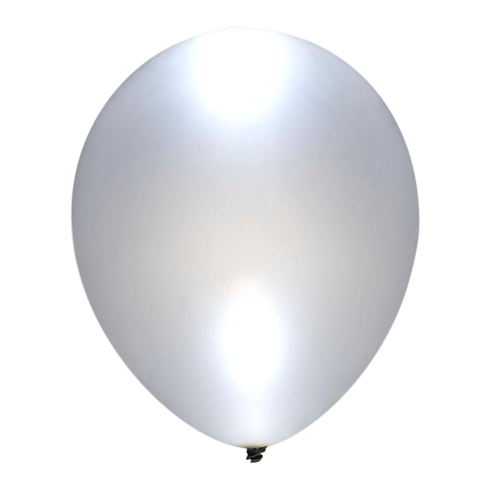 Sølv LED ballon