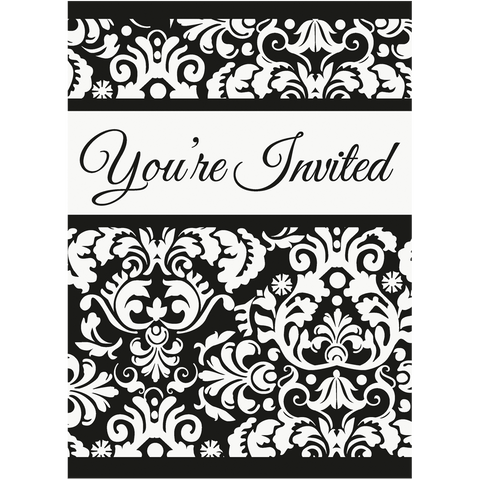 Sort damask invitation