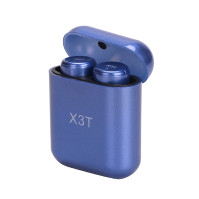 X3T Mini Invisible Twins Bluetooth Earphones Mic with Charging Case