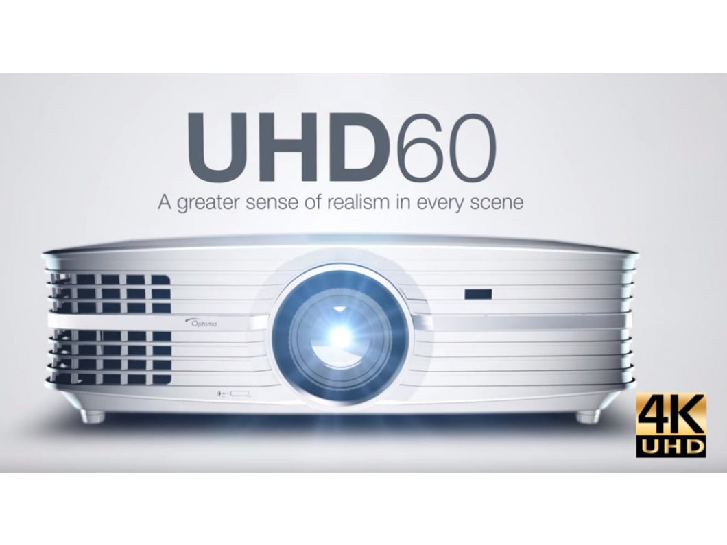 Optoma UHD60 4K Home Theater Projector - White