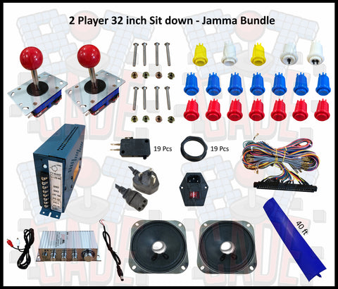 2 Player 32 inch Sit down - Jamma Bundle