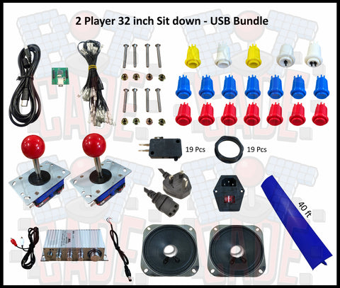 2 Player 32 inch Sit down - USB Bundle