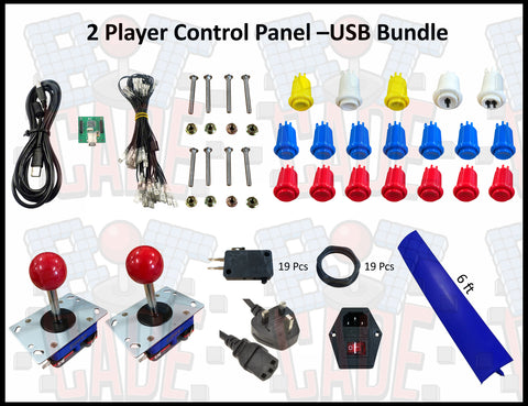 2 Player Control Panel – USB Bundle