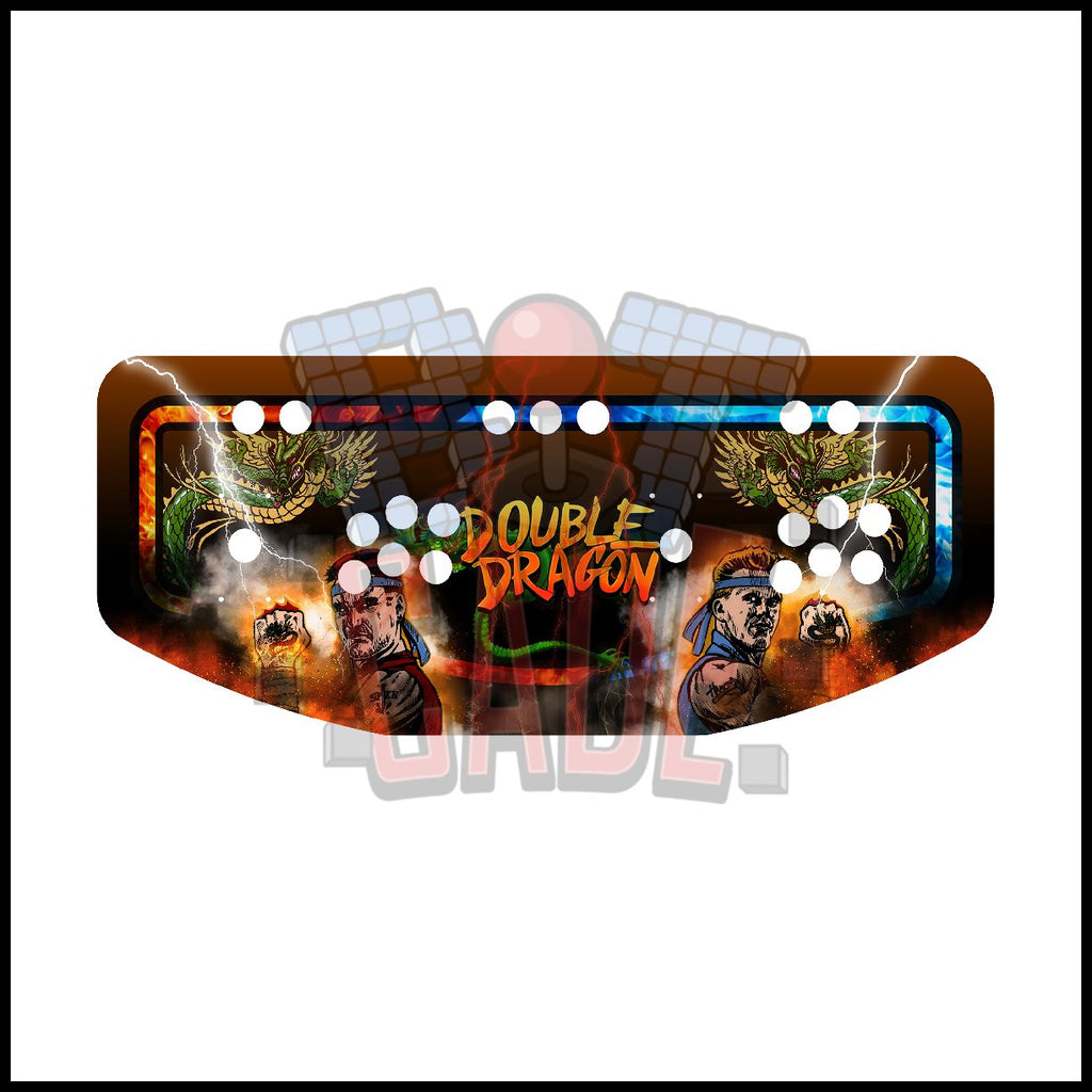 Double Dragon Artwork - 2 Player Control Panel