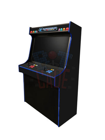 "'Typhon' 43"" Black Upright Arcade Machine - With Hyperspin Setup"