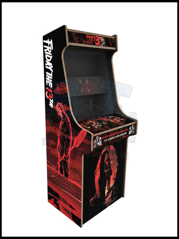 Friday The 13th Artwork - 2 Player Full Size Cabinet