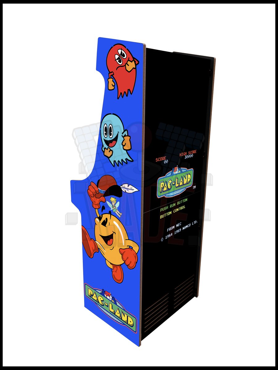 Pacland Artwork - 2 Player Full Size Cabinet