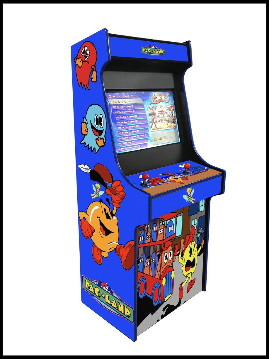 Pac Land-  27 Inch Upright Arcade Cabinet - 1300 in 1