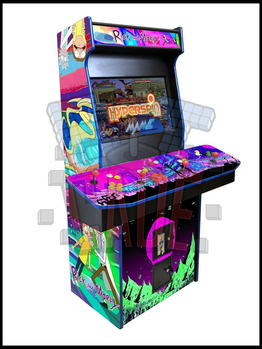 Rick and Morty - 4 Player 27 Inch Upright Arcade Cabinet